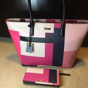 Kate Spade Muticolor Bag w/ Wallet